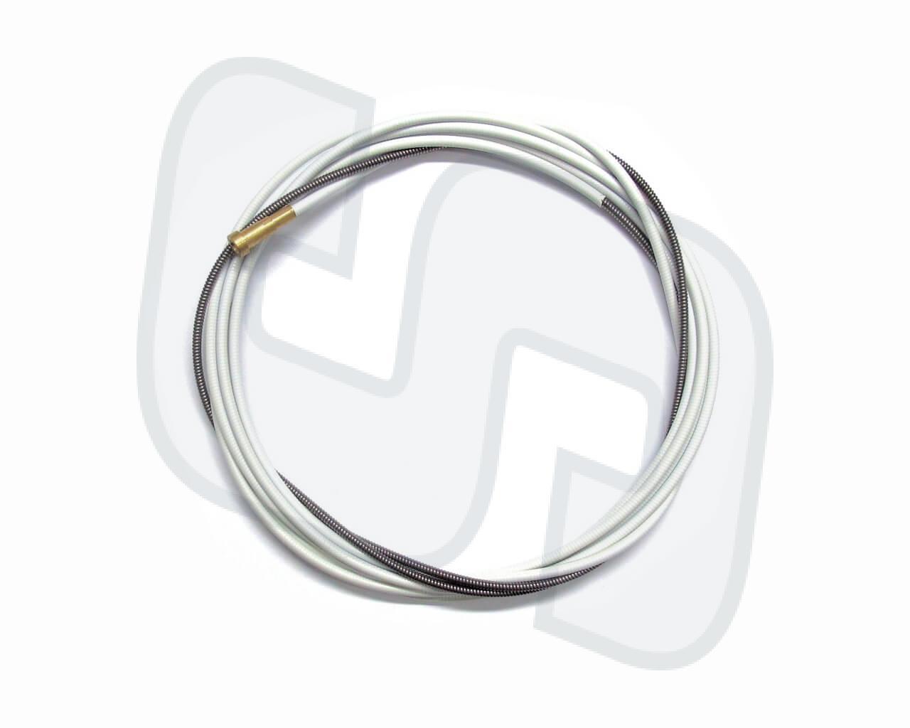 Drahtführungsspirale 1.3x3.8mm weiß 3m. Für 0.6-0.9mm