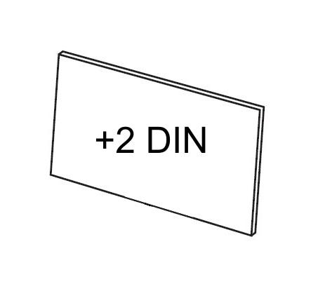 Vorsatzscheibe innen SPEEDGLAS 42x91mm +2 DIN / 5er-Pack