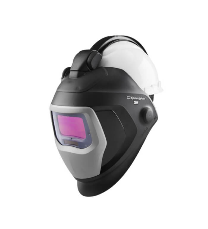 Schweißhelm SPEEDGLAS 9100XX QR mit Arbeitsschutzhelm 3M H-701